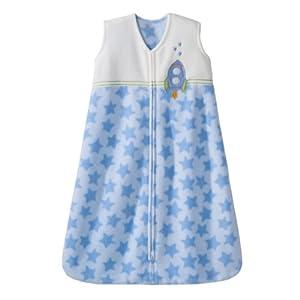HALO SleepSack Micro Fleece Wearable Blanket, Blue, Small