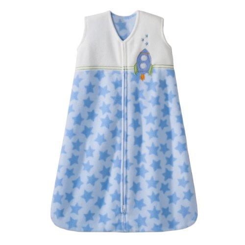 HALO SleepSack Micro Fleece Wearable Blanket, Blue, Large