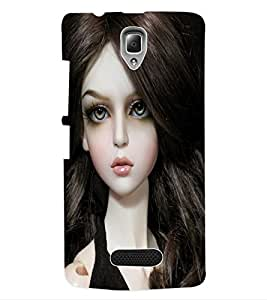 ColourCraft Cute Doll Back Case Cover for LENOVO A2010