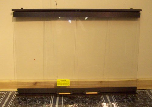 30 Inch Bifold Glass Fireplace Door Black 30GDKBK picture B004FJV18M.jpg