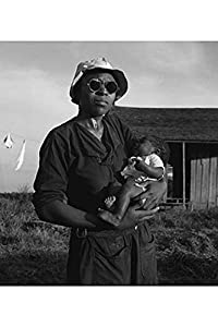 """Buyenlarge Wife and Child of Tractor Driver - Gallery Wrapped 44""""X66"""" canvas Print., 44"""" X 66"""""""""""