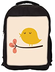Snoogg Bird Life Minimal Backpack Rucksack School Travel Unisex Casual Canvas Bag Bookbag Satchel