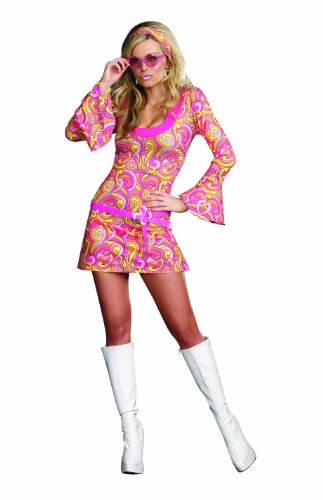 Dreamgirl Women's Go Go Gorgeous Costume, Multi, Medium