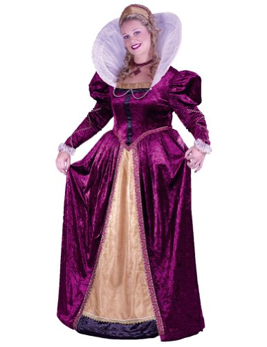 Adult-Costume Elizabethan Queen Plus Sz Halloween Costume - Adult Plus