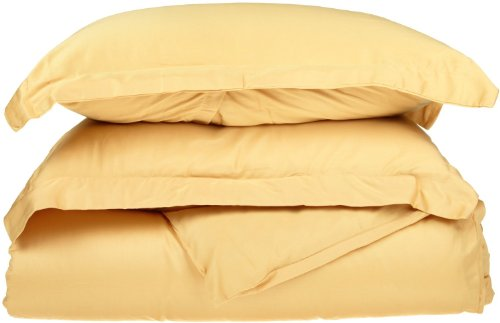 Impressions 1500 Series Wrinkle Resistant King/California King Duvet Cover 3-Pc Set Solid, Gold front-532754