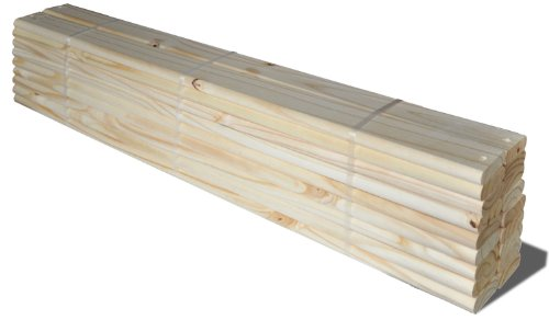 Pack of 18 Loose 100% Solid Pine Wood Slats for Twin Size Beds and Bunk Beds by Palace Imports, 39.25