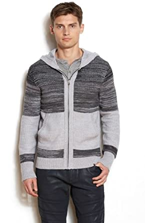(新品)阿玛尼Armani Exchange Marled Accent Hooded 男士时尚 毛衣外套折后$59第3方