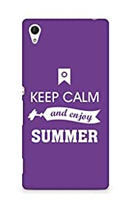 Amez Keey Calm and Enjoy Summer Back Cover For Sony Xperia Z4