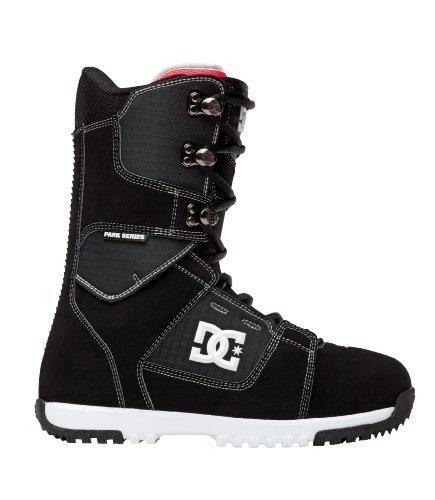 DC Men's Park Boot 12 Performance Snowboard Boot,Black/White,9 M US