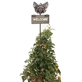 Yorkie Metal Welcome Sign