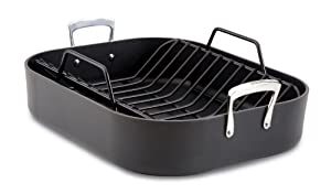 All-Clad E8759964 Hard Anodized 16-Inch x 13-Inch Large Roasting Pan with Nonstick Rack... by All-Clad