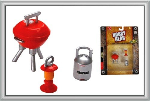 Hobby Gear - 1:24 Scale BBQ Barbecue Set, Lantern, Grill, Propain Tank