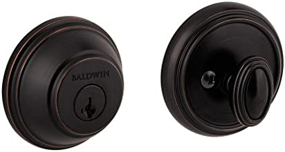 Baldwin 380 RDB 11P SMT CP RCAL Single Cylinder Round Deadbolt Featuring SmartKey, Venetian Bronze