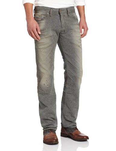 02f86785 Diesel Men's Safado Regular Slim Straight Leg Jean 0807M Denim 34x32 ...