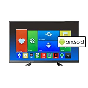 electriQ 40 Inch Full HD 1080p Android Smart LED TV with Freeview HD - Black