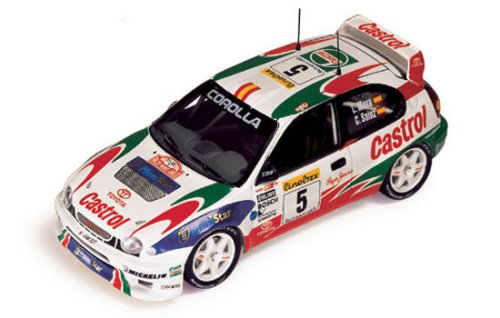 diecast car model of Toyota Corolla WRC Carlos Sainz-L. Moya Winner Rally Monte Carlo 1998 1/43 Scale diecast Model car