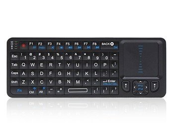 Rii Mini I6 2.4G 3 In 1 Wireless Keyboard, Touchpad, Ir Remote Controller (Black)