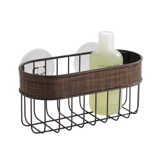 InterDesign Twillo Suction Basket, Bronze