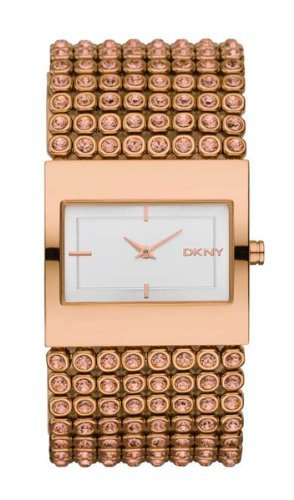 DKNY Watch, Women's Rose Gold Ion Plated Stainless Steel and Crystal Accent Bracelet NY8446