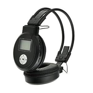 Shopinnov Casque sans fil pliable Lecteur MP3 Radio FM