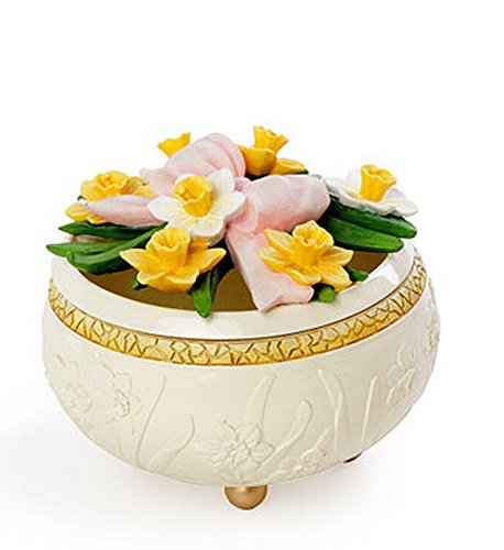 "Vas European Style Vintage ""Floral"" Jewelry Box & Decoration (Narcissus) front-502604"