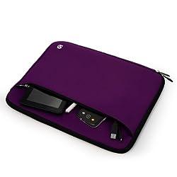 VangoddyTM Neoprene Zipper Sleeve Cover (Purple) Dell Latitude / Dell Inspiron 14 / 14R / 14Z / Dell XPS 14 Ultrabook / Dell Alienware 14 inch Laptops