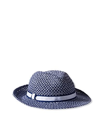 Rossovivo Men's Casablanca Hat, Navy/White