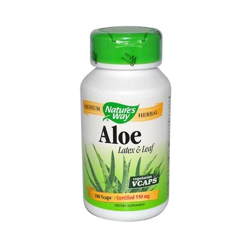 Nature'S Way Aloe Vera Latex And Leaf 100 Vegetarian Capsules