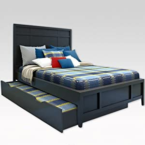 Amazon BROADWAY FULL BED W TRUNDLE BLACK Childrens