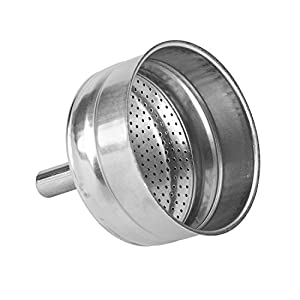 Bialetti - Spare Funnel - Replacement Part Suitable for Bialetti Stainless Steel Espresso Makers - Various Sizes by Bialetti