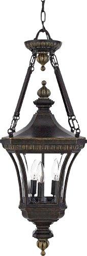Quoizel DE1490IB Devon 31-Inch x 11-Inch 3 Light Outdoor Hanging Lantern, Imperial Bronze