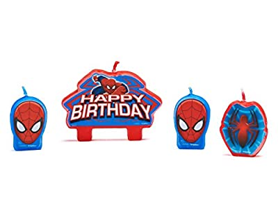 Spider-Man Birthday Candles, 4 Count, Party Supplies