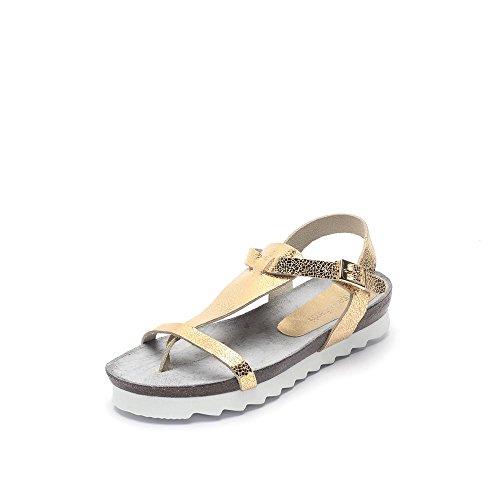 Tipe e Tacchi / sandali donna colore oro pelle crack