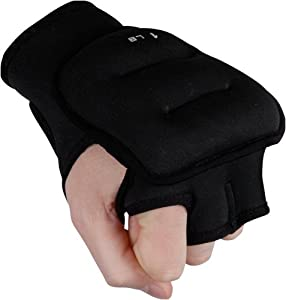 TITLE Weighted Gloves, Black, 1-Pounds