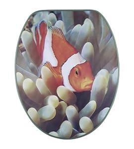 Diaqua Paris 3D Slow Motion 31171013 Siège pour toilettes Motif poisson-clown 42-47 x 37,2 cm