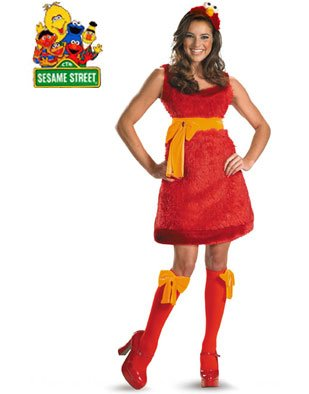 slutty elmo costume image