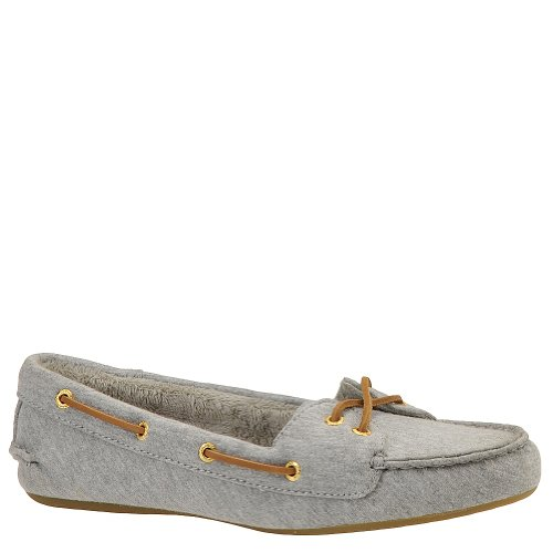 Sperry Top Sider Skiff Womens SZ 9.5 Gray Grey New Textile Boat Shoes