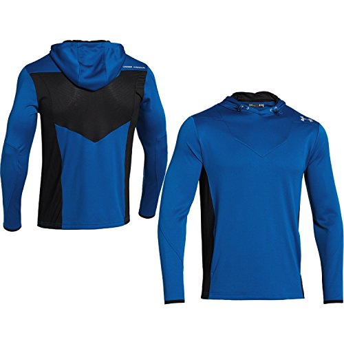 Mens Hooded Long Sleeve Shirt, Scatter/Black/Steel, Small