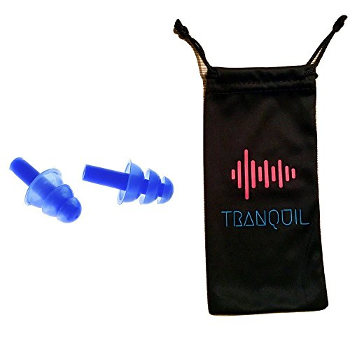 Noise Cancelling Ear Plugs Great for Concerts, Work or Relaxation. Comfortable Fit Silicone Earplugs (Blue) by Tranquil (Ear Plugs Work compare prices)