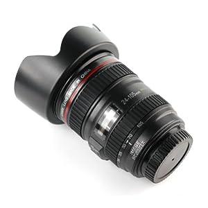 Camera Lens Cup Coffee Tea Mug with Lens Cap Cover (Canin EF 24-105mm f/4L USM Lens)
