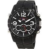 U.S. Polo Assn. Sport Men's US9235 Black Analog Digital Strap Watch