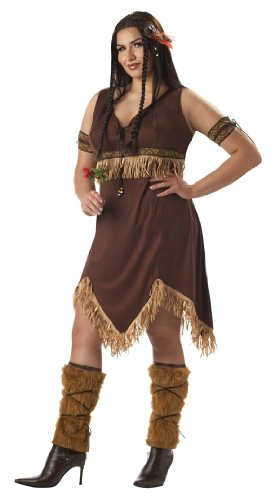California Costumes Adult, Sexy Indian Princess Adult Plus Costume, 16-22, 1 ea