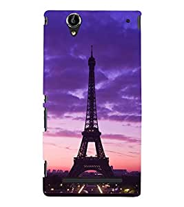 Effie Tower at Evening 3D Hard Polycarbonate Designer Back Case Cover for Sony Xperia T2 Ultra :: Sony Xperia T2 Ultra Dual SIM D5322 :: Sony Xperia T2 Ultra XM50h