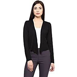 Ajile by Pantaloons Women's Solid Casual Shrug (205000005573312_Size_Medium)