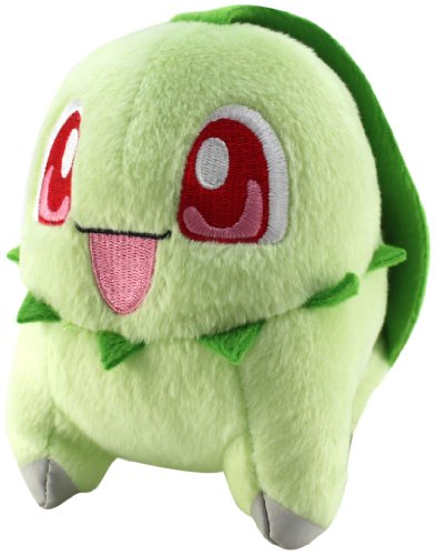 "Pokemon Diamond And Pearl Plush Toy - 6"" - Chikorita - 1"