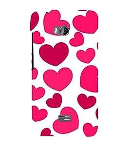 EPICCASE pink hearts Mobile Back Case Cover For Micromax Q336 (Designer Case)