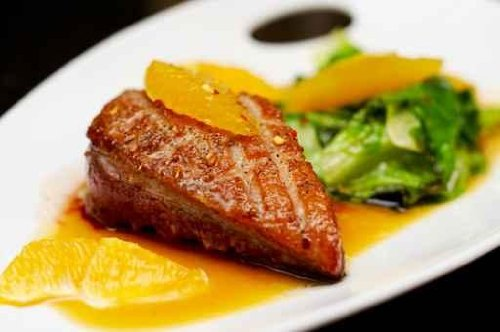 """Roasted Duck Breast Fillet with Miso-orange Sauce - 52""""W x 35""""H - Peel and Stick Wall Decal by Wallmonkeys"""