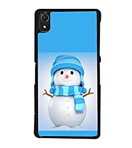 printtech Snowman Christmas Back Case Cover for Sony Xperia Z3 , Sony Xperia Z3 D6653 D6603