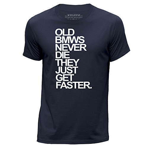 stuff4-uomo-medio-m-blu-navy-girocollo-t-shirt-old-bmws-bmw-never-die
