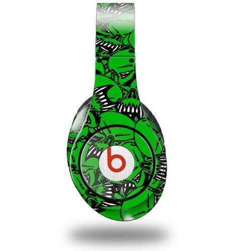Scattered Skulls Green Decal Style Skin (Fits Original Beats Studio Headphones - Headphones Not Included)